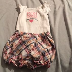 Toddler girl short outfit